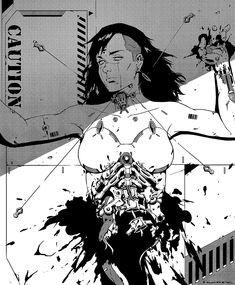 牛肉面社: rhubarbes: hunter liang More on RHB_RBS Cyberpunk Anime, Arte Cyberpunk, Manga Art, Manga Anime, Anime Art, Arte Robot, Robot Art, Robot Concept Art, Scary Art