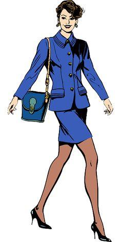 Бесплатное изображение на Pixabay - Бизнесмен, Женщина, Выделка, Синий