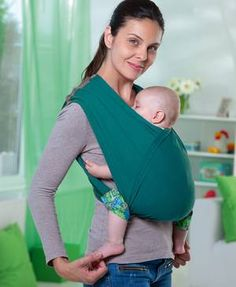 Tragetuch 'Carry Baby' grün