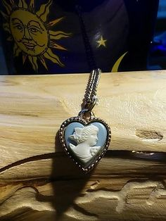 This is a beautiful Vintage Magickal.  A pretty cameo pendant that is just brimming with magick.  This item is from the personal magickals collection of a vintage witch. :)  We made a trip to her at h