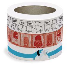 Dancing Pug tape!  http://ohhdeer.com/product/dancing-pug-tape