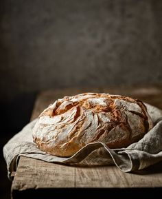 freshly baked bread on rustic wooden table Food Photography Styling, Food Styling, Spoon Bread, Bread Art, Rustic Bread, Bread And Pastries, Artisan Bread, Bread Rolls, Daily Bread