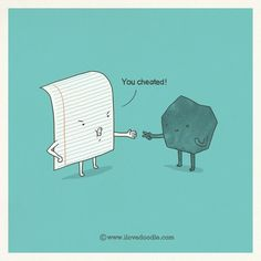 Doodle Everyday 394:    Rock won    by Lim Heng Swee