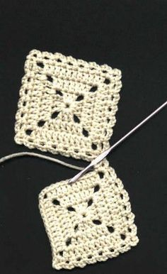 free flat braid square joining crochet tutorial