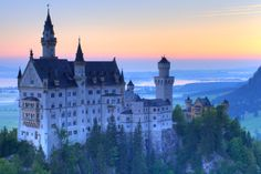 Neuschwanstein Castle. Germany - It is the inspiration for Sleeping Beauty's castle at Disneyland in Anaheim, California. A castle of fairy tales, there is no other stronghold in Europe that can match the sheer beauty of the 19th century Neuschwanstein. The castles lavish interiors were inspired by Wagner's operas