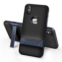 For Apple iPhone X Case TPU + PC 2 in 1 Phone Cases Ultra Thin Phone Stand Cove For Apple iPhone X Case Coque Fundas