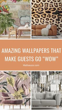 """Replacing your wallpaper is one of the easiest and most affordable ways of updating your home and making it feel modern. Our stunning wallpapers are also available as Peel and Stick, making it even easier to transform your space, giving you great flexibility every time you fancy a change. Need some inspiration? Read our blog post with 9 amazing wallpapers from our range that will make your guests go """"wow"""" when they walk in. Discover more from Wallauce! #wallpaper #homedecor"""