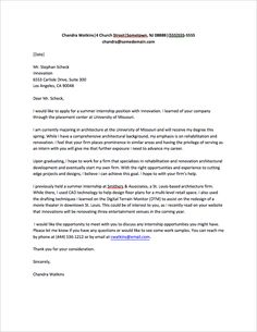 sample application letters for internship