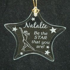 Etched Star shaped ornament