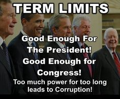 We need to stop career  politicians. They aren't good for anything but taking bribes from the biggest briber.