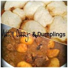 Mutton Curry & Dumplings recipe by Ruhana Ebrahim posted on 17 Mar 2018 . Recipe has a rating of by 5 members and the recipe belongs in the Beef, Mutton, Steak recipes category Dumpling Dough, Dumplings, Steak Recipes, Real Food Recipes, Lamb Ribs, Sri Lankan Recipes, Lamb Curry, Lamb Dishes