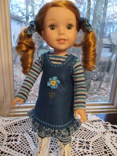 """Blue Doll Outfit to fit your 15"""" Wellie Wishers Doll by Emmakate0 on Etsy"""