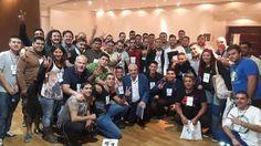 Sec Gral SGBATOS Jose Luis Lingeri  acompañado por la Juventud Sindical en el Congreso de Salud de los Trabajadores.Salon Blanco de Parque Norte.7 de Abril de 2016