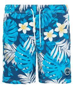 Timberland Seagull shorts Blomstret badeshorts fra Timberland. Shortsen har midjestrikk med snøring, to stikklommer og en baklomme med klaff og velcro. Shortsen har mesh innertruse. 100% polyamid.