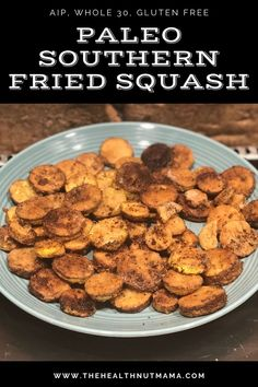 This Paleo Southern Fried Squash is just like grandma used to make but healthier. So yummy! Make it as an appetizer with garlic aioli or your favorite paleo dip or as a side dish. Gluten Free & AIP option. #squash #yellowsquash #southernfriedsquash #aip #paleo #paleorecipe #paleosidedish #paleosides #whole30 #glutenfree #friedsquash #aiprecipe #aipsidedish #aipsides #thehealthnutmama Paleo Side Dishes, Dinner Side Dishes, Side Dish Recipes, Recipes With White Flour, Paleo Recipes, Whole Food Recipes, Paleo Kids, Vegetable Recipes, Grain Free