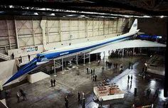 Boeing 2707.  America's try at Supersonic Transport (like Concorde) ended in a Wooden model built and then project cancelled.