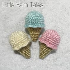 This is a free pattern for my mini crochet ice-creams. Written instructions and all information regarding techniques and materials required are listed at the start of the pattern.