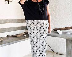 NEW Black & Print Maxi Dress / Winter Dress / Plus Size Dress / Long Dress / Oversized Dress / Black Dress / Evening Dress / #35234