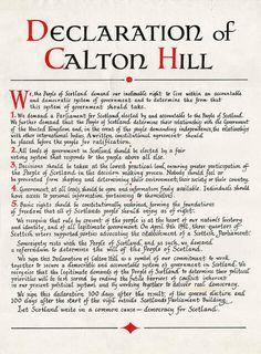 Declaration of Caltonhill