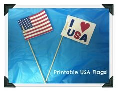 Printable USA Flags!