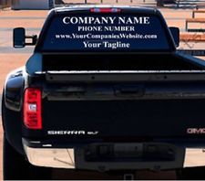 Rear Window Stickers Advertising Vinyl Car Lettering Graphics - Back window decals for ford trucks