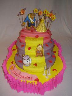 La Bella y la Bestia, tarta de cumpleaños para Aitana