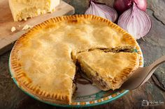 Made with a regional cheese, this humble and homely Lancashire cheese and onion plate pie, from Only Crumbs Remain is full of flavour and comfort. Lancashire Cheese, Cheese And Onion Pie, Cheese Recipes, Cooking Recipes, Baked Dinner Recipes, Pastry Brushes, Easter Dinner, Nice Things, Cheesecakes