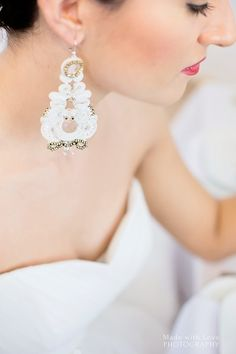 Our soutache wedding earring http://www.weddingproject.eu photo: Made with love photography