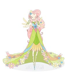 Galloping Gala: Fluttershy by ~Flying-Fox on deviantART :: i'll admit that i know absolutely no reason why everyone flips their shit for those stupid lil ponies, but these pieces are pretty cool to look at. :D