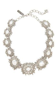 Oscar de la Renta Light Antique Silver Necklace, £601, available at Oscar de la Renta.