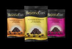 Beyond Dark Chocolate Drops new packaging by Alpha Design & Marketing