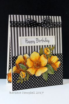 We have a new challenge at Seize the Birthday. I am excited about this month's challenge as we will have three. Yes there are three chall. Handmade Birthday Cards, Happy Birthday Cards, Greeting Cards Handmade, Poppy Cards, Sunflower Cards, Altenew Cards, Stampin Up Cards, Scrapbook Cards, Scrapbooking