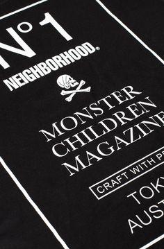 Monster Children x Neighborhood Graphic Tee #monsterchildren