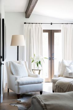 Home Interior Bohemian Restoration Hardware Belgian Heavyweight French-Pleat Drapery - copycatchic.Home Interior Bohemian Restoration Hardware Belgian Heavyweight French-Pleat Drapery - copycatchic My Living Room, Home And Living, Living Room Decor, Living Spaces, Bedroom Decor, Cozy Living, Bedroom Seating, Wood Bedroom, Bedroom Furniture