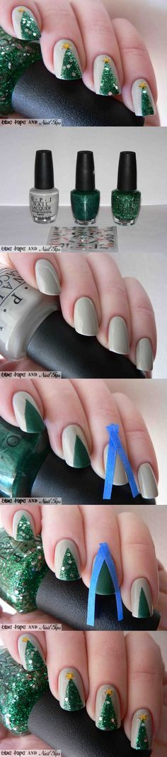 11 DIY Easy Christmas Nail Art Tutorial #Christmas #nailart #tutorials…