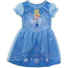 Cinderella Baby Toddler Girl Short Sleeve Fantasy Nightgown