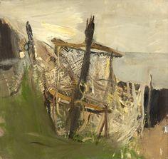 JOAN EARDLEY  -  Fishing Nets, Oil on board, 19 x 20 ins.