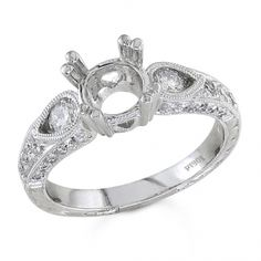 BF1143-R - #23536  18 k, white diamond ring 0.64 ct. rounds (Please call for pricing)