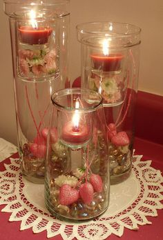 Valentine Candles by dining delight, via Flickr