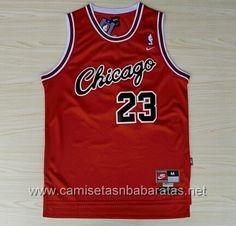 camisetas NBA Chicago Bulls Rojo Retro #23 Jordan €19.99