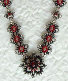 Crystal Lace Necklace Patterns Book by Sandra D Halpenny
