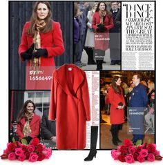 """""""Catherine, Countess of Strathearn is seen during a visit to Dumfries House on March 05, 2013 in Ayrshire, Scotland"""" by alessia3012 ❤ liked on Polyvore"""
