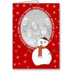 SWEET! This Product Qualifies For: Holiday Cards You'll Covet: 50% Off All Cards & 10% Off All Other Products! Use Code: HOLIDAYSAVIN   Ends Tomorrow!   Details Custom Happy Holidays Snowman Card