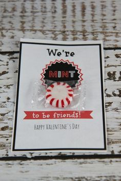 We are Mint to Be Friends Valentine Card Idea :: Free Printable