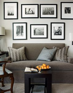 HOUSE BEAUTIFUL apartment in NYC --the sofa was made by Baker Bespoke.