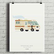 Breaking Bad - Bounder Fleetwood - plakat, minimalmill Breaking Bad, Format A3, Wall, Design, Paper Board, Walls