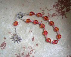 Eos Pocket Prayer Beads: Greek Goddess of the Dawn by HearthfireHandworks on Etsy