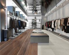 This floor is made from recycled rubber! #sustainable #retail #design