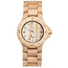 Reloj de madera Beige - por 39,95€