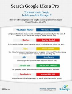 principessalauri:Having trouble finding good results with google search? Try these awesome tips  :) And google like a pro :D